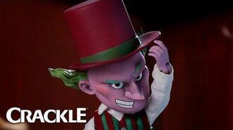 """SuperMansion War On Christmas"" – Jim Parsons as Mr. Skibumpers – Skibambo No. 5 – Clip – Crackle"