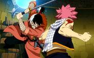 Totomaru with his katana against Natsu
