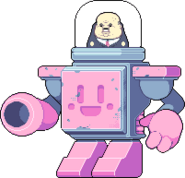 Boss in cuboy robot