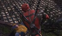 Deadpool slapping Wolverine