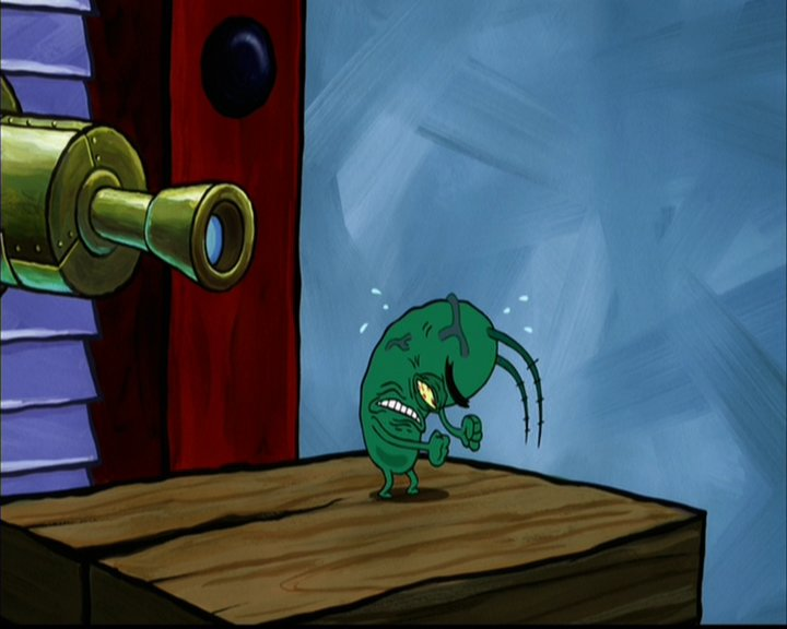 image plankton yelling with rage and frustationjpg