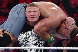 Lesnar about to destroy John Cena