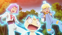 James, Meowth and Clemont are in Trouble