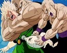 Yamu absorbing Gohan's power