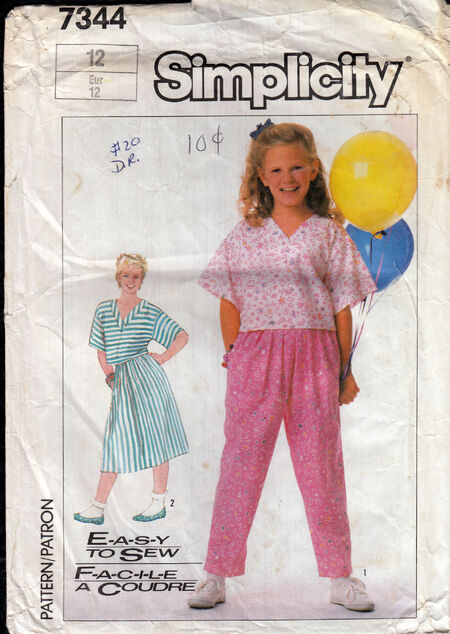 Vintage sewing pattern girls easy to sew Penelope Rose at Artfire