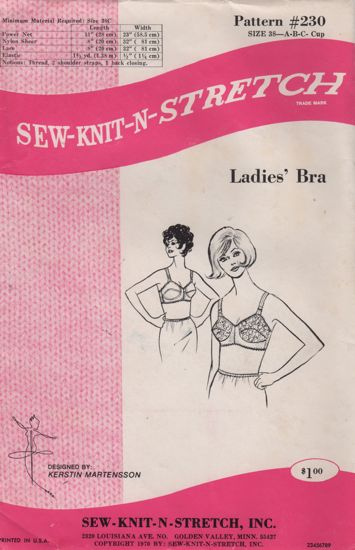 Sew-Knit-N-Stretch 230 Ladies Bra 1