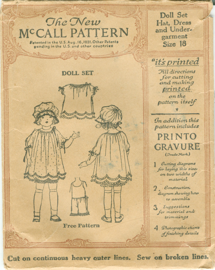 McCall Sample Doll 21