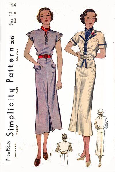 Simplicity 1930s 2012
