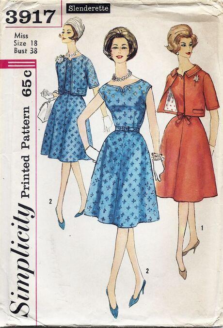 Simplicity 3917 1960s a
