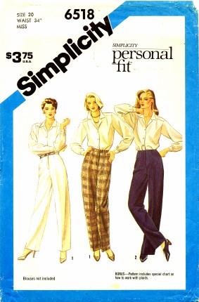 Simplicity 1984 6518