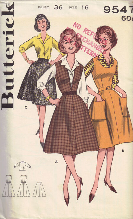 C1960s 9547 butterick dress
