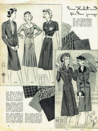 Praktische Damen und Kinder Mode 1938 0010