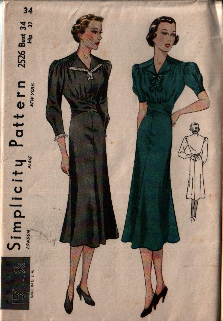 Simplicity 2526 A Vintage Sewing Patterns Fandom