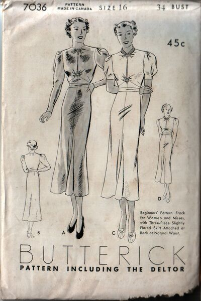 Butterick 7036 front