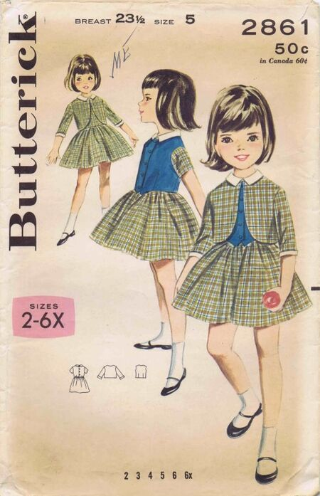 Butterick 1964 2861 F Size 5