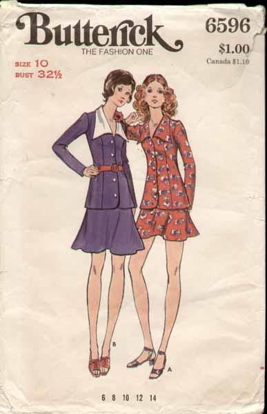 Butterick 6596 a 70s