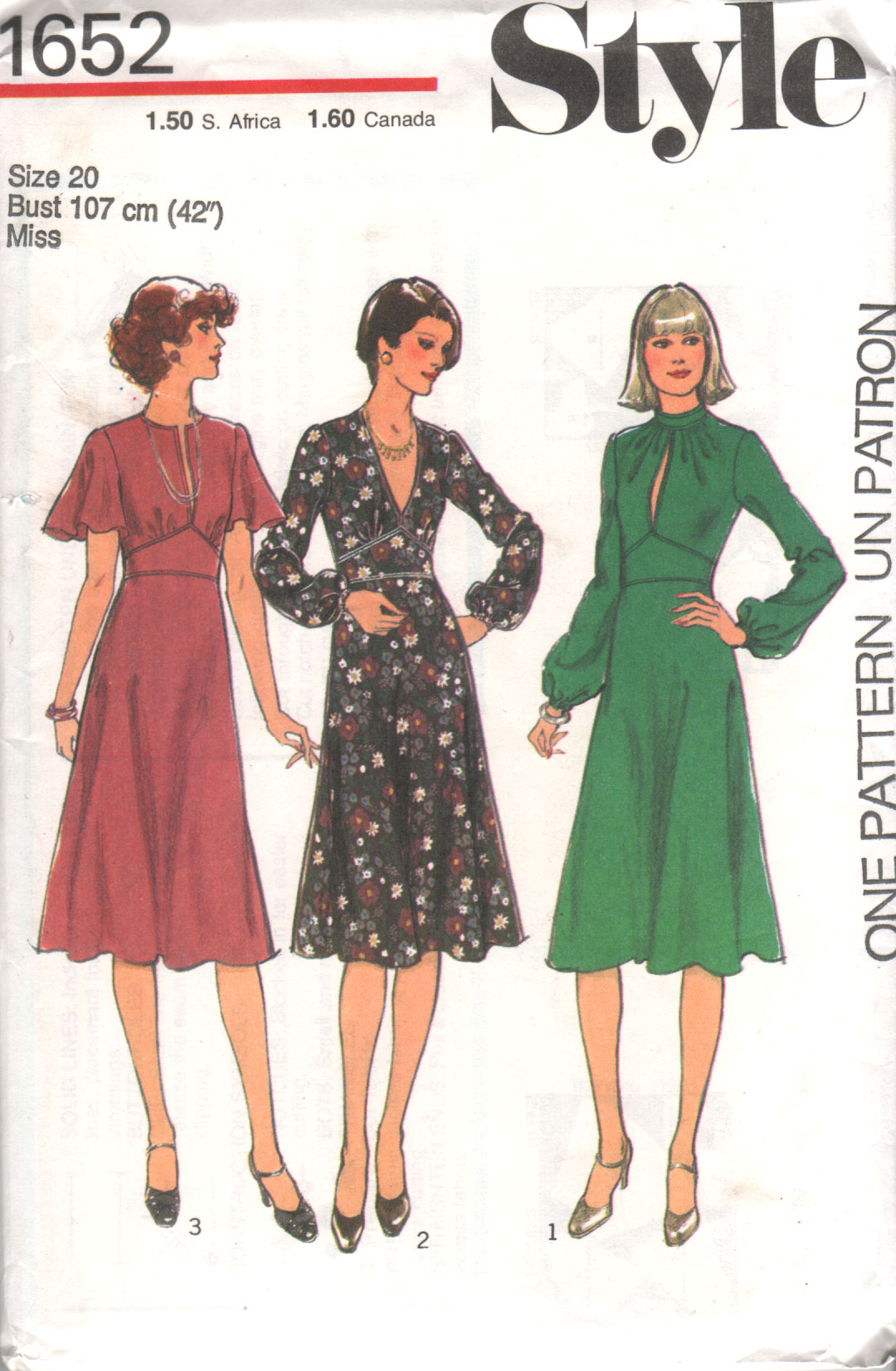 Marvelous Style 1652 Vintage Sewing Patterns Fandom Powered By Wikia Hairstyles For Women Draintrainus