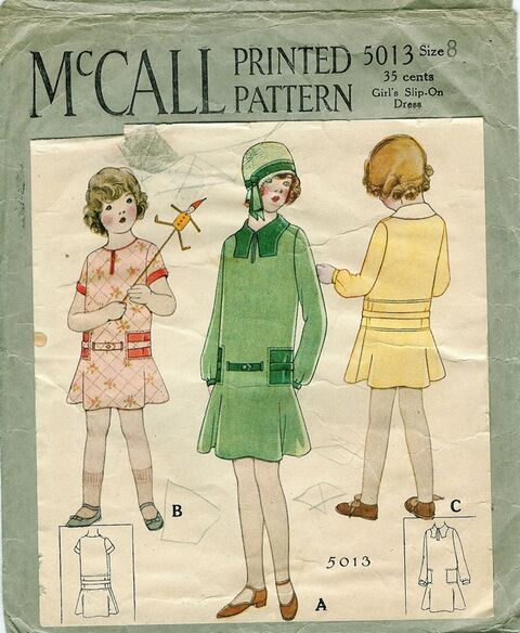 1928 McCall 5013 Size 8