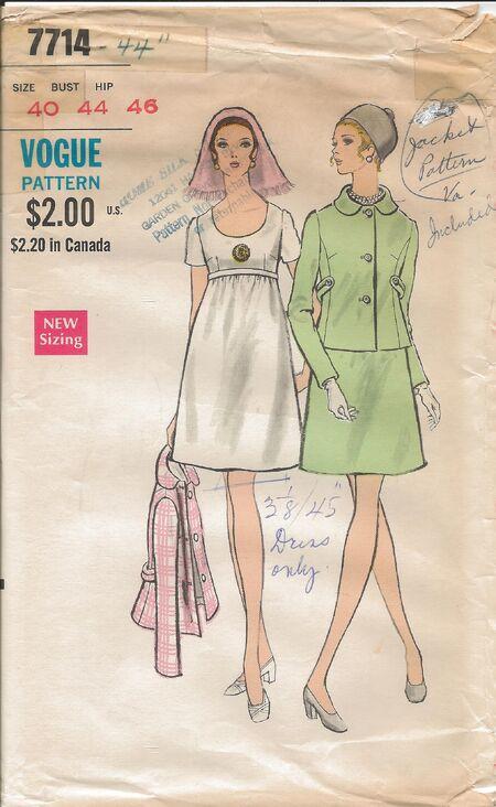 Vogue 7714 1960s