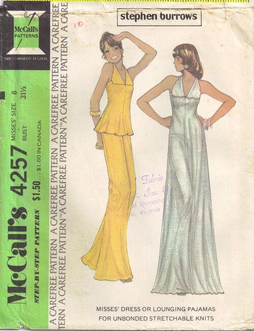 C1974 4257 McCalls dress