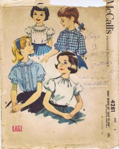 McCalls 1957 4281