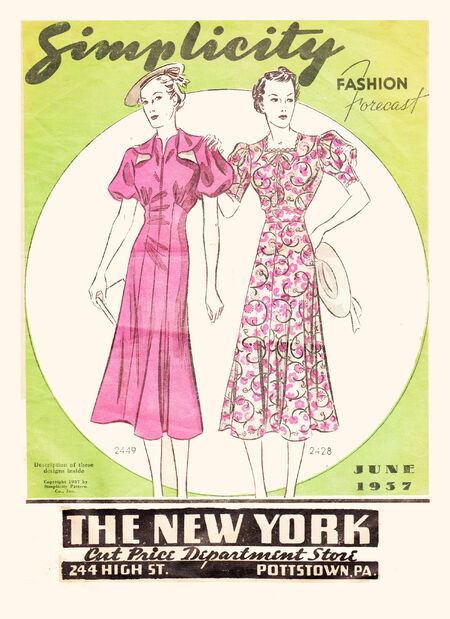 Simplicity Fashion Forecast June 1937