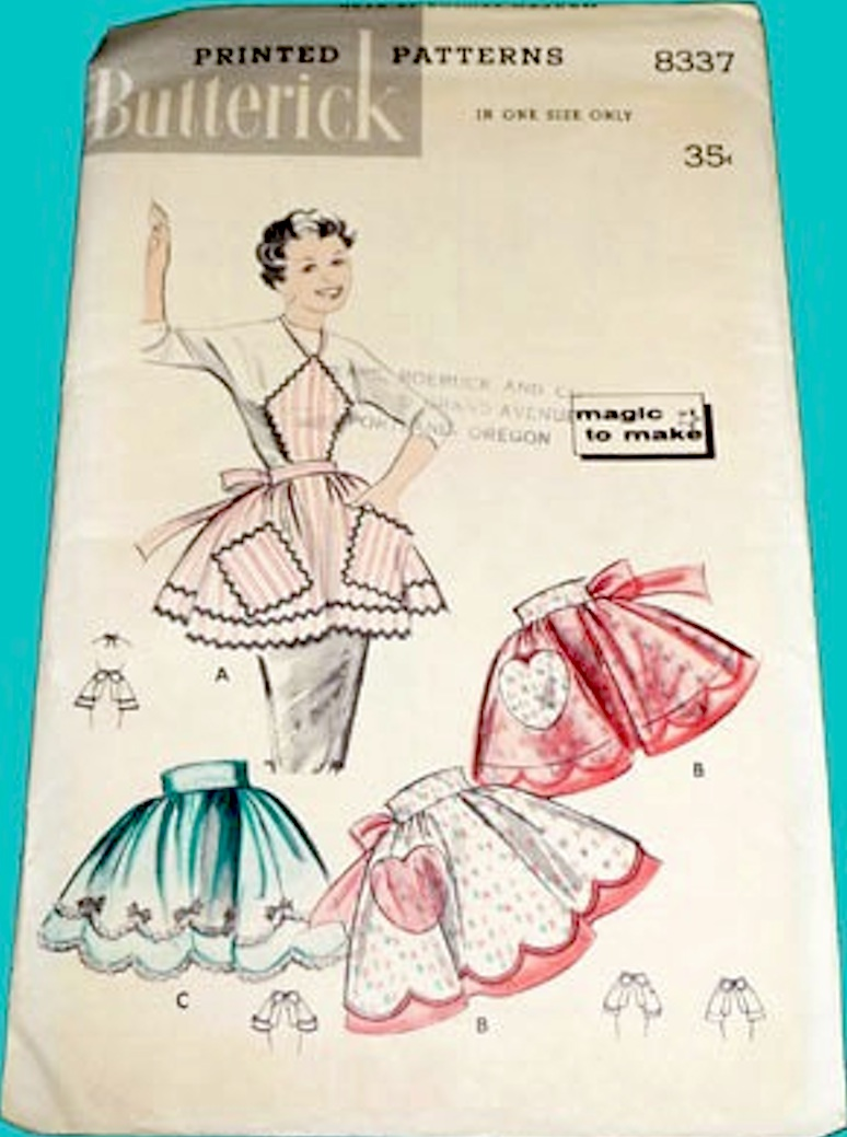Butterick 8337 Vintage 1950s Apron pattern image