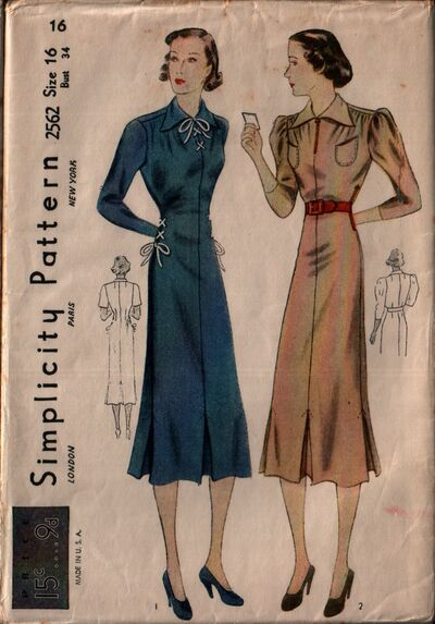 Simplicity 2562 front