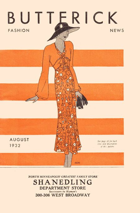 Butterick fashion news aug 1932
