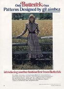 Butterick ad fall 1976