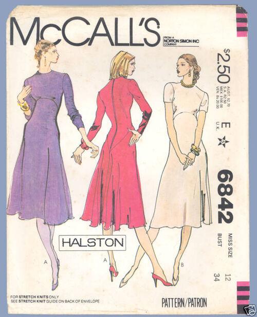 HALSTON McCall's 6842a
