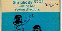 Simplicity 5704 A