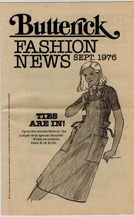 Butterick Fashion News Flyer 1976
