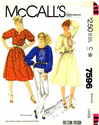 McCalls 1981 7596