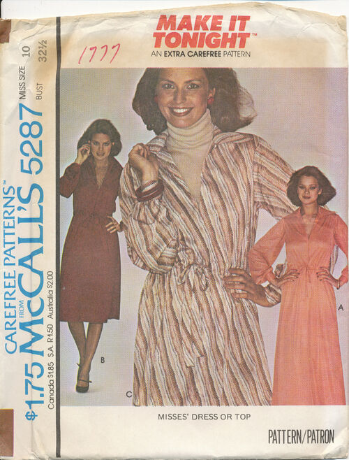 1976 McCall's 5287 size 10