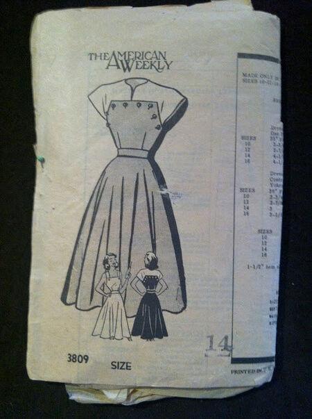 American weekly 5449 dress