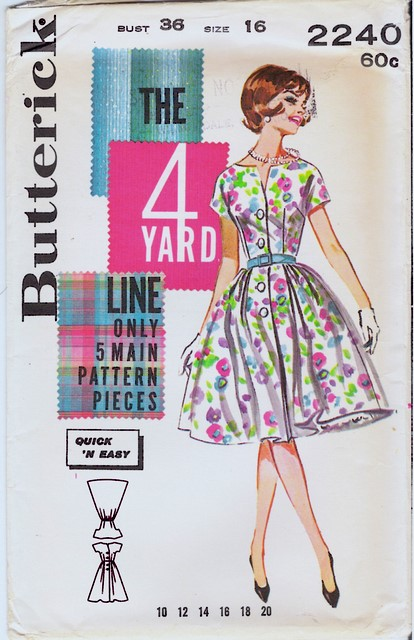 1950's Butterick 2240 front
