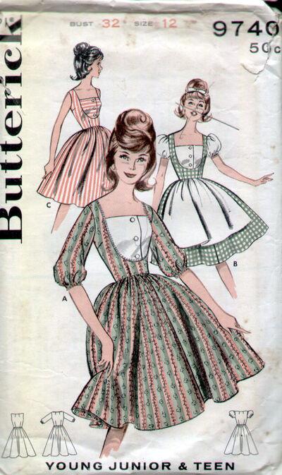 Butterick 9740 60s