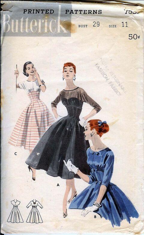 7551B 50s Dress