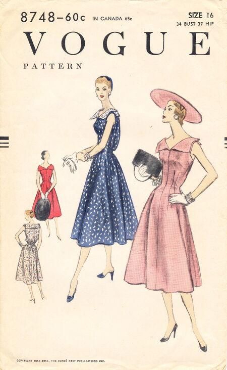 Vogue 8748 (1955) scan