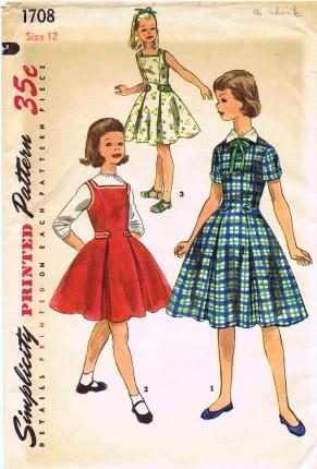 Simplicity 1956 1708