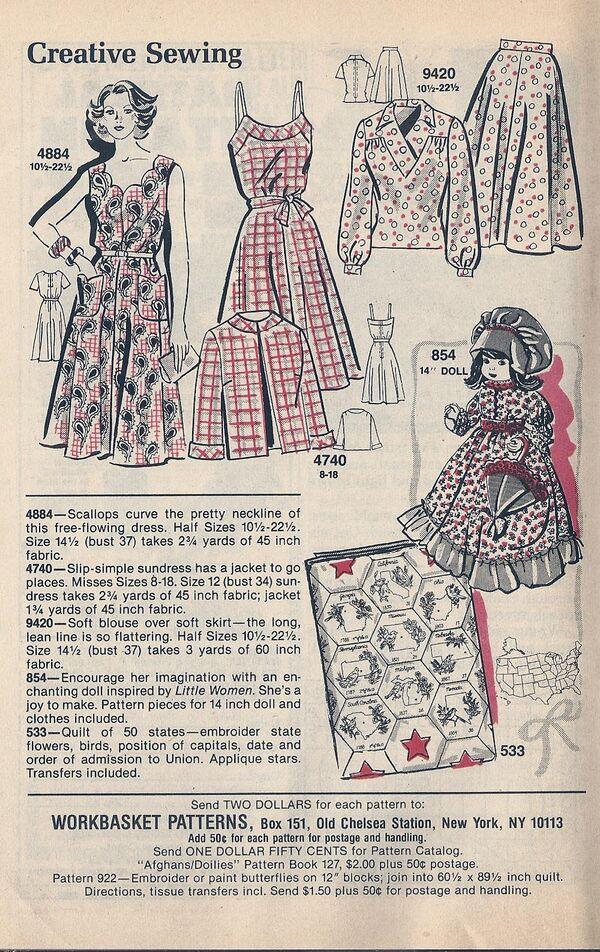 Mail Order Patterns April 1982