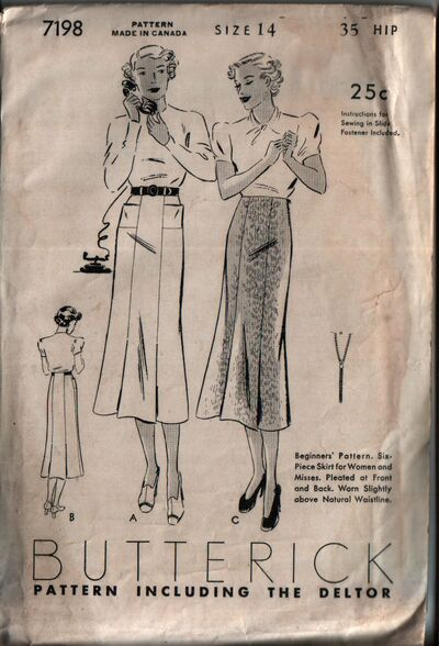 Butterick 7198 front
