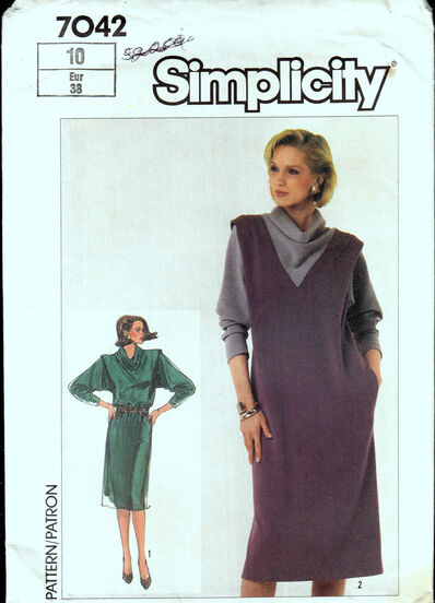 Vintage sewing pattern 1980s easy to sew dress Penelope Rose at Artfire