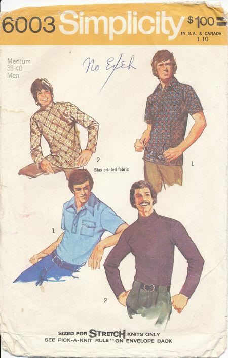 1973 Simplicity 6003 38-40 men