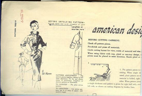 1025-D Spadea Sept 15 1960 Dress