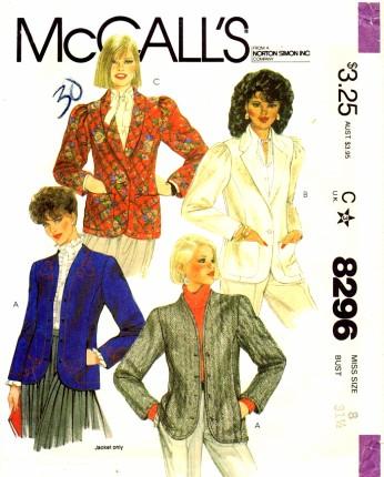 McCalls 1982 8296