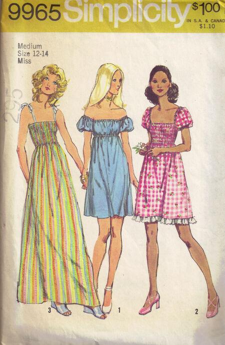 C1972 9965 Simplicity peasant dress