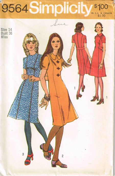 C1971 9564 Simpliicty Dress