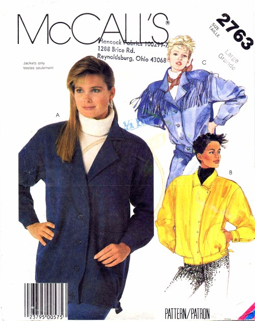 McCalls 1986 2763